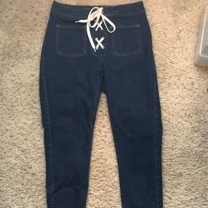 Zara Lace up skinny jeans
